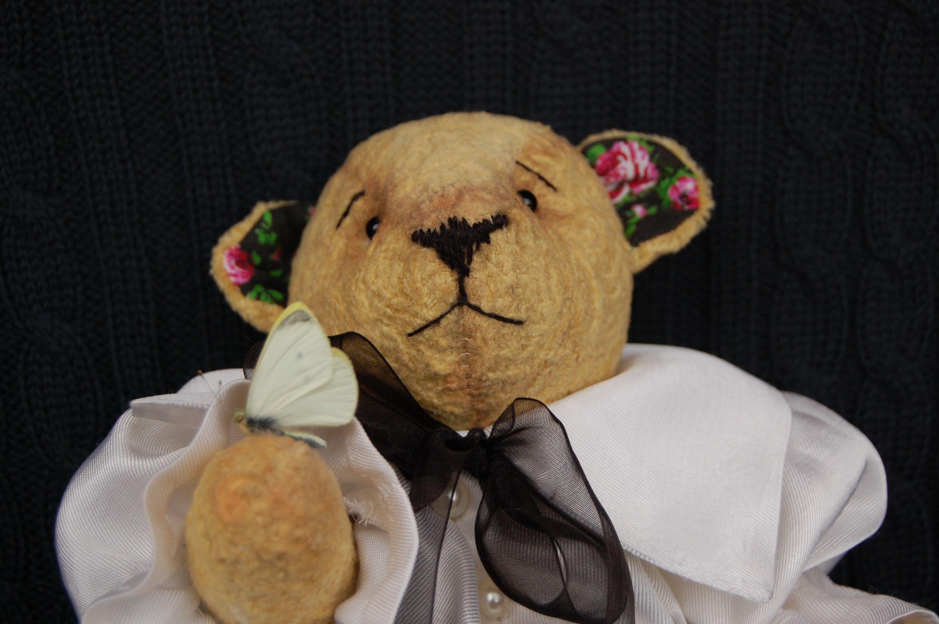 ретро мишка игрушка работа ручная стиль тедди подарок