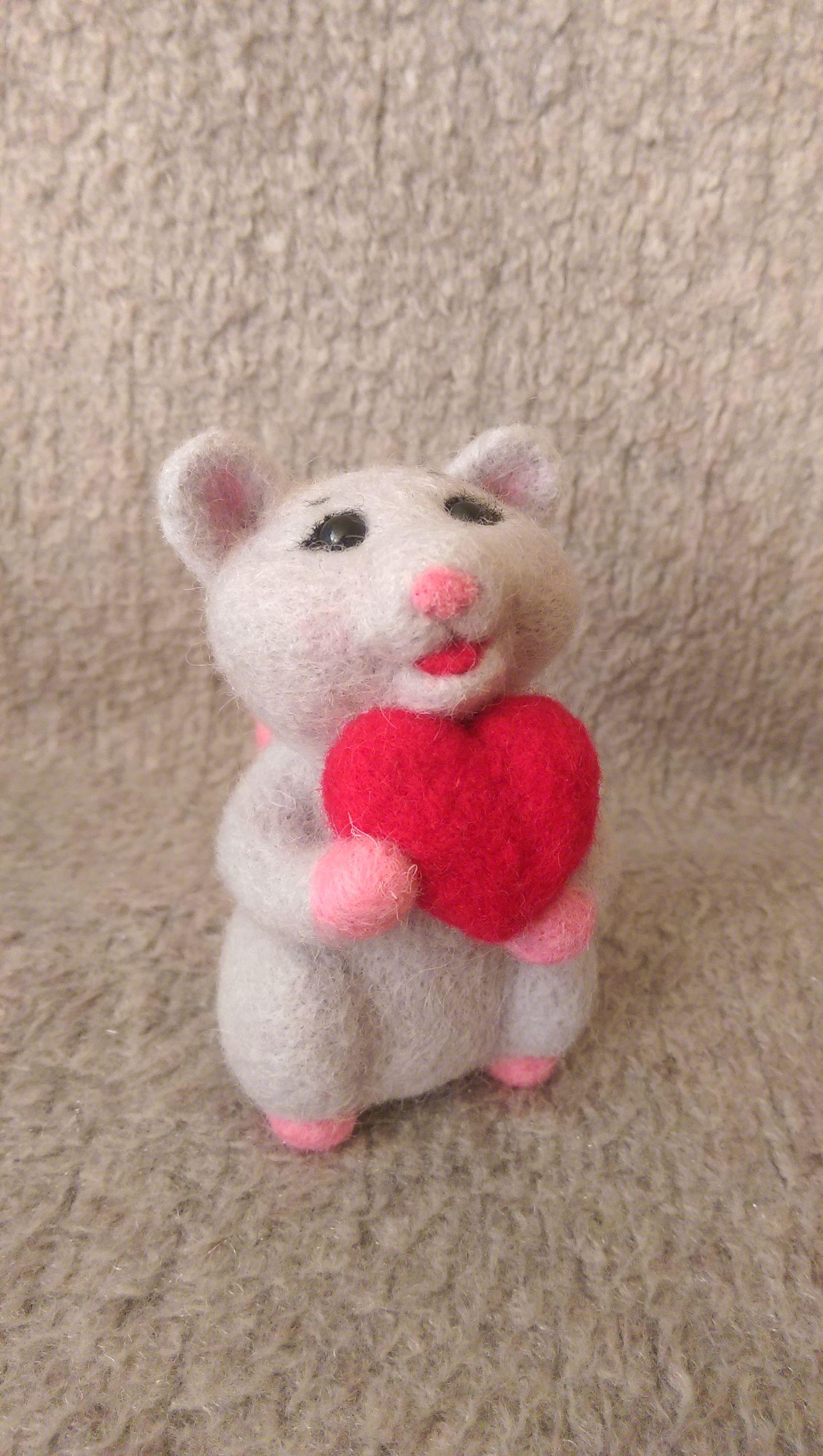 игрушка шерсть любимым фелтинг мышь лучшийподарок подарок
