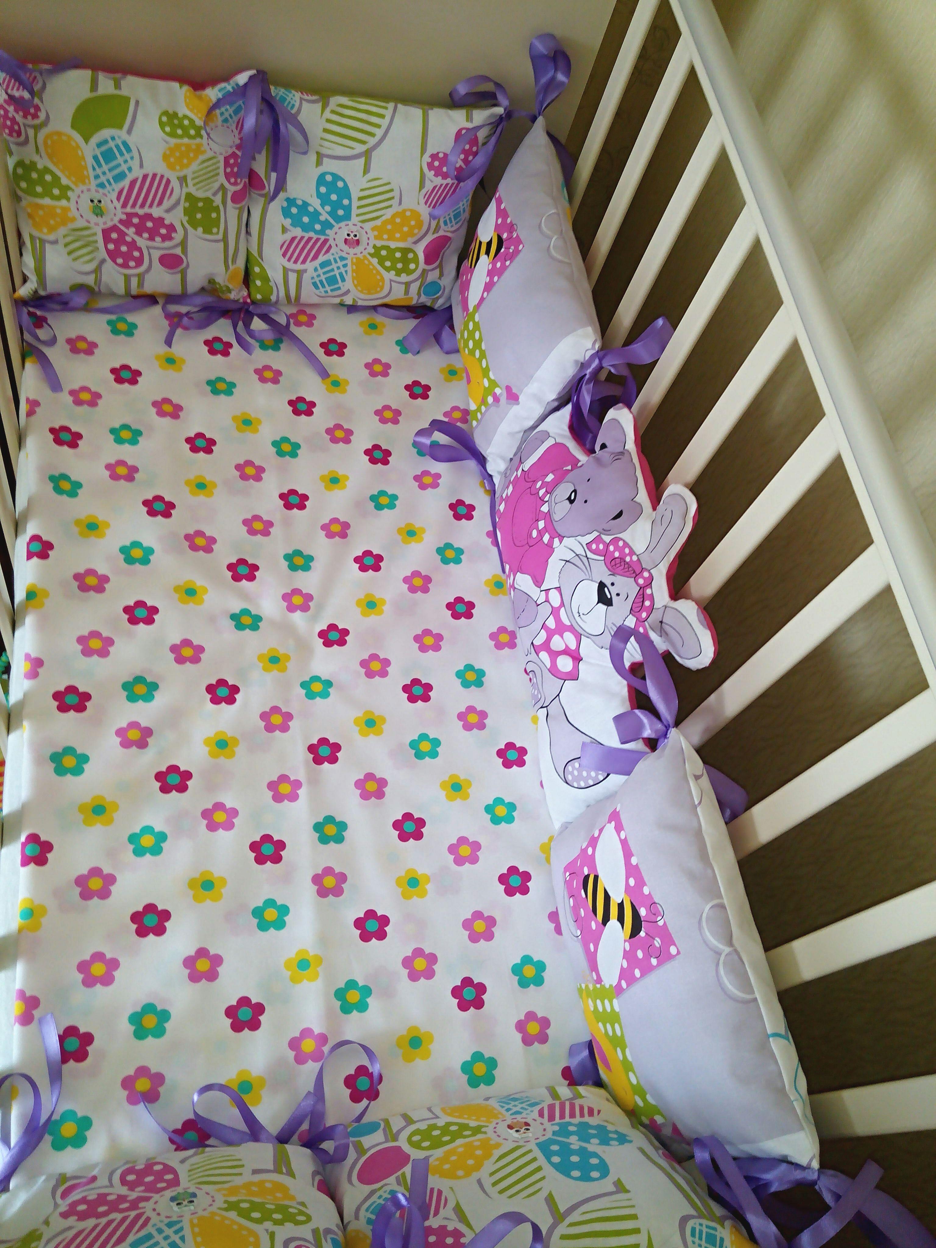 длядевочки вкроватку бортики детскаякомната длямалышки бортикиподушки