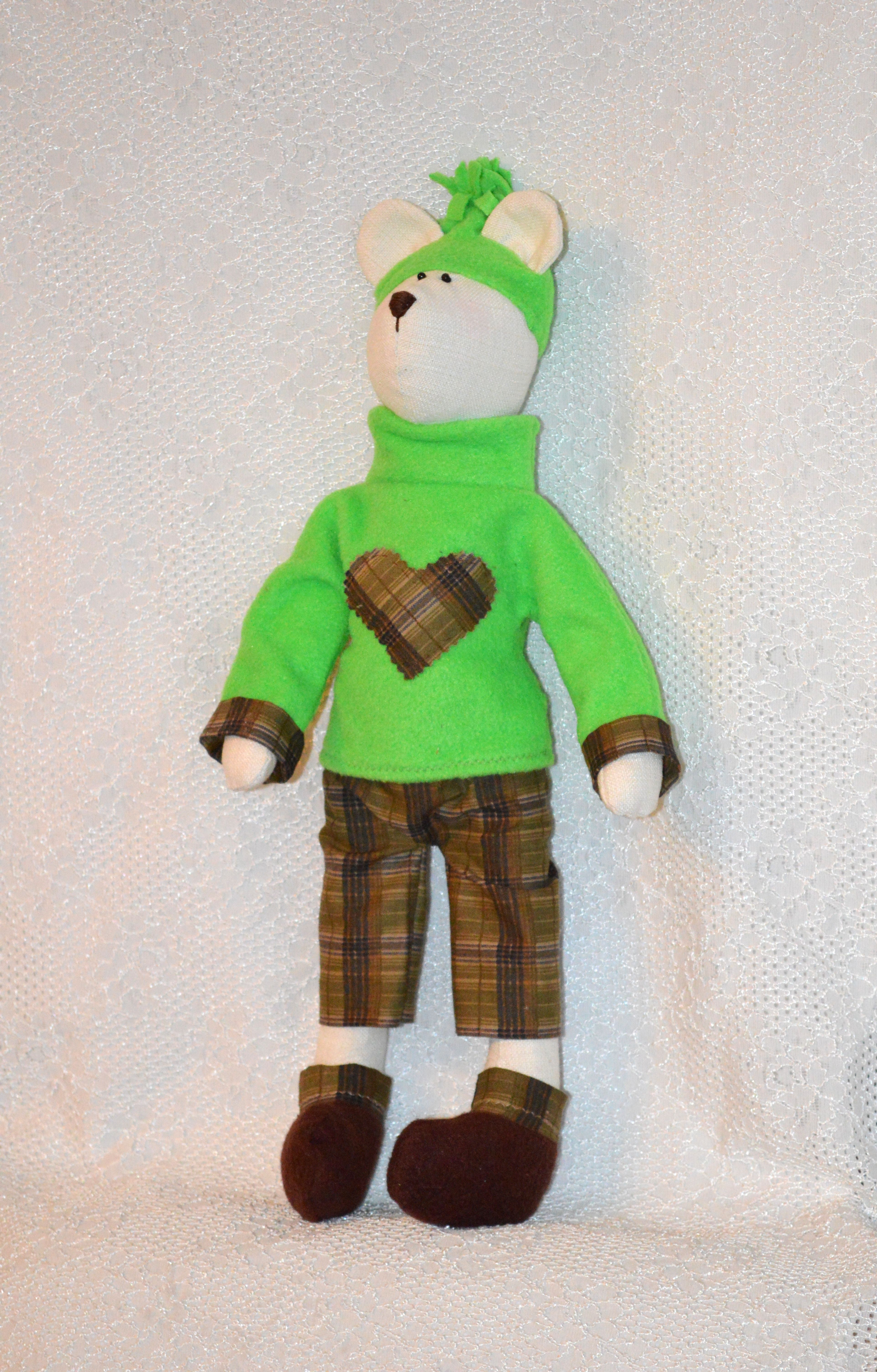 медведь мишка подарок штанишках медвежонок в
