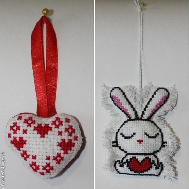 работа подвески брелки ручная вышивка сувениры подарки крестиком