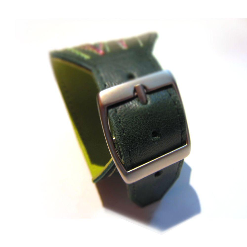 зеленый кожа подарок браслет эльфы ролевые игры весна аксессуар