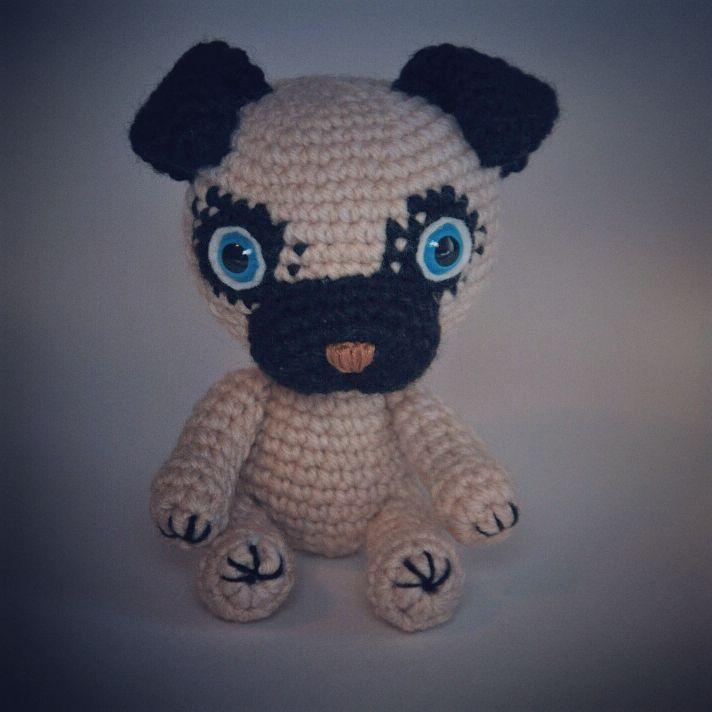 подарок игрушка щенок handmade игрушкакрючком сувенир символгода амигуруми bogiboo крючок мопс собака 2018