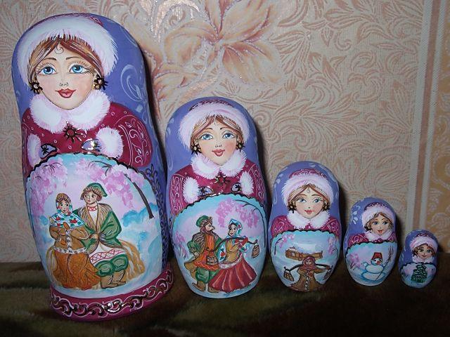 авторская народный кукла работа ручная сувенир роспись деревянная матрешка