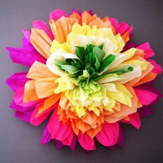 Цветы из гофрированной бумаги своими руками 1