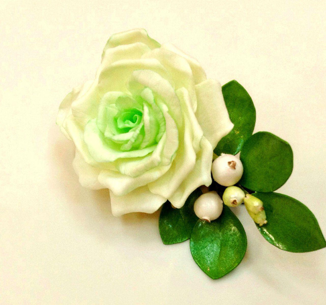 заколочка ранункулюс украшения фоамиран праздник розы фом цветы подарок дети