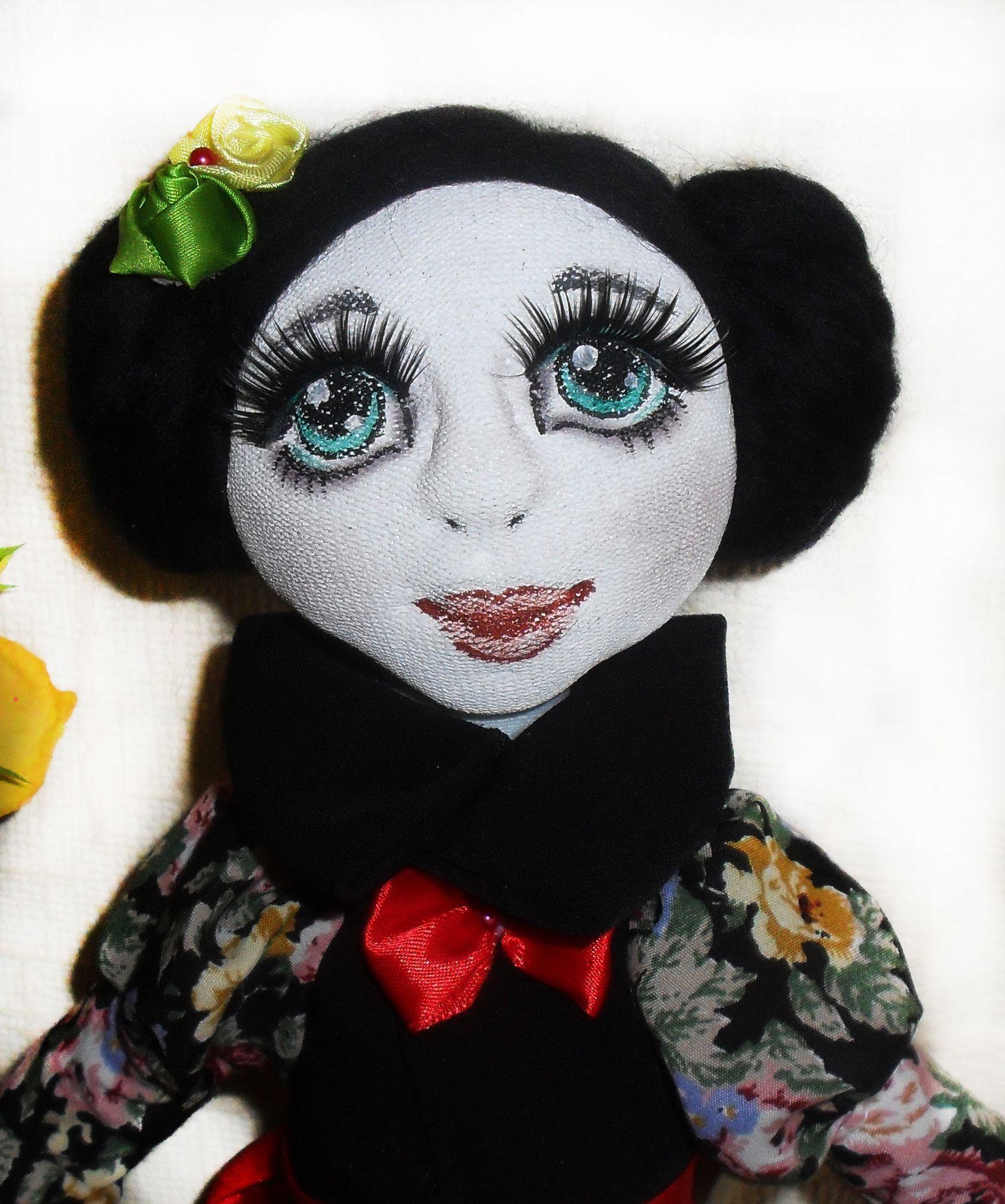 подарок кукла работа ручная лицо большая объемное текстильная