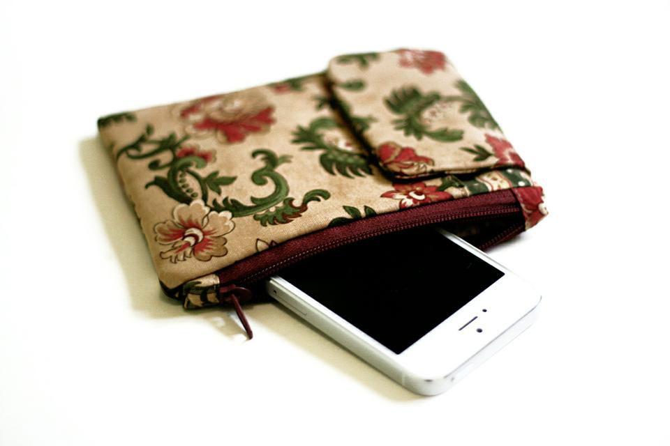 футляр телефона мастеркласс для текстиль чехол