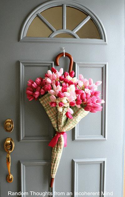 дома входной двери декор для идеи пасха венок руками своими праздники