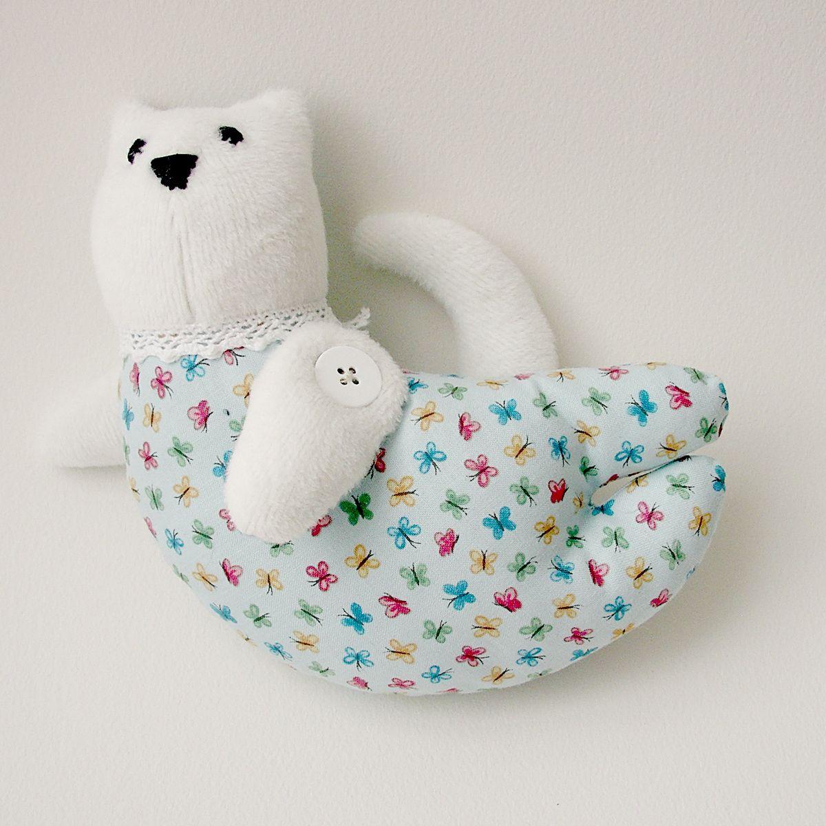 хлопок котик игрущка игрушка для тильда ручной работы детей подарок