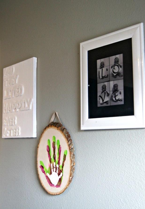 детские подарок панно рукамми отпечатки семейное мастеркласс дерево своими