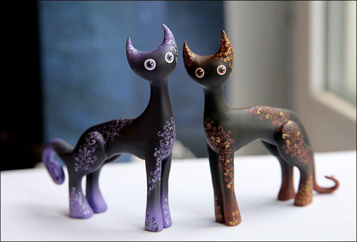 коты кот котик ночь черный