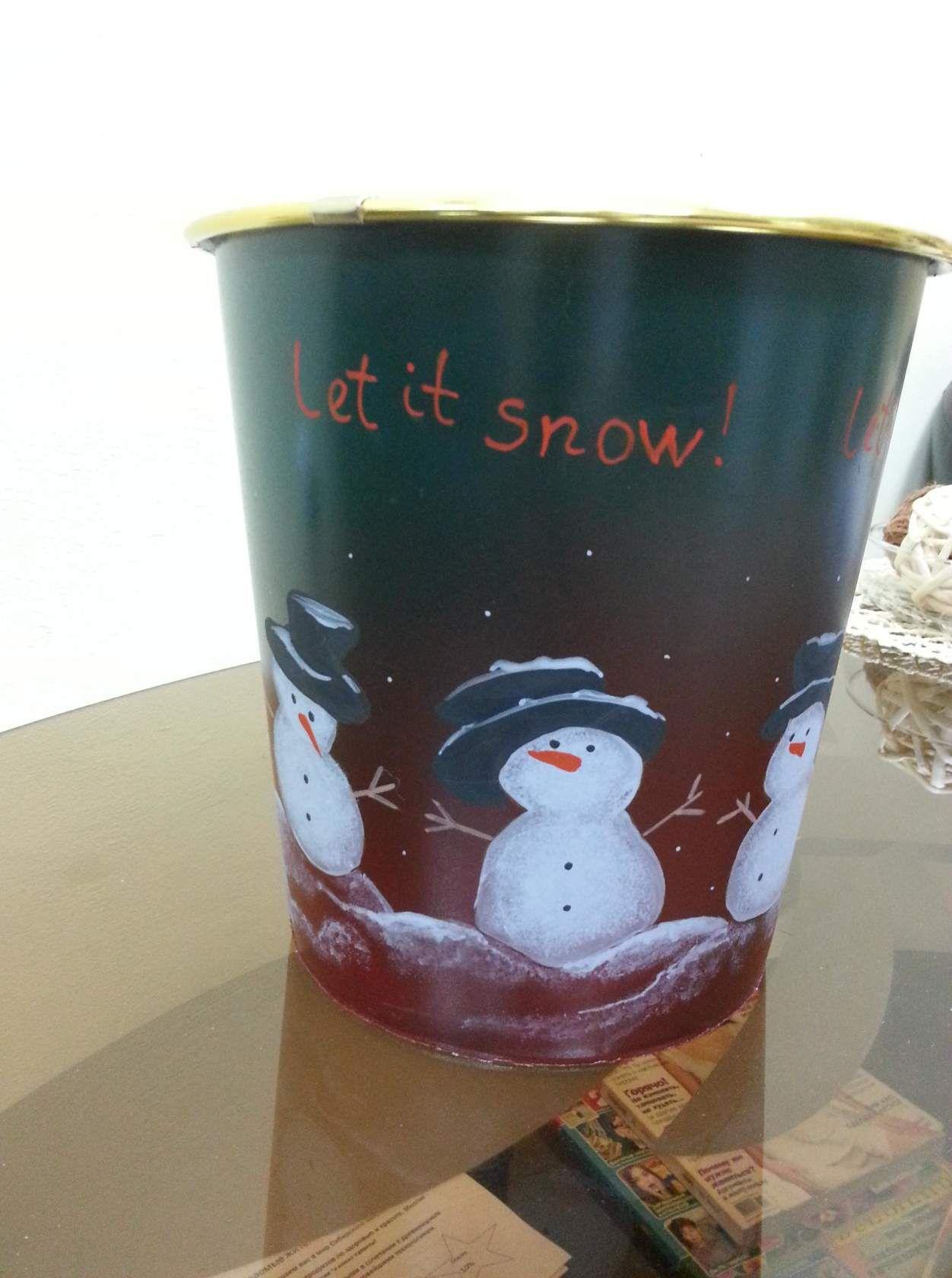интерьера снег зима женщине год ведерко на снеговик декор подарка новый для детям детей подарок упаковка