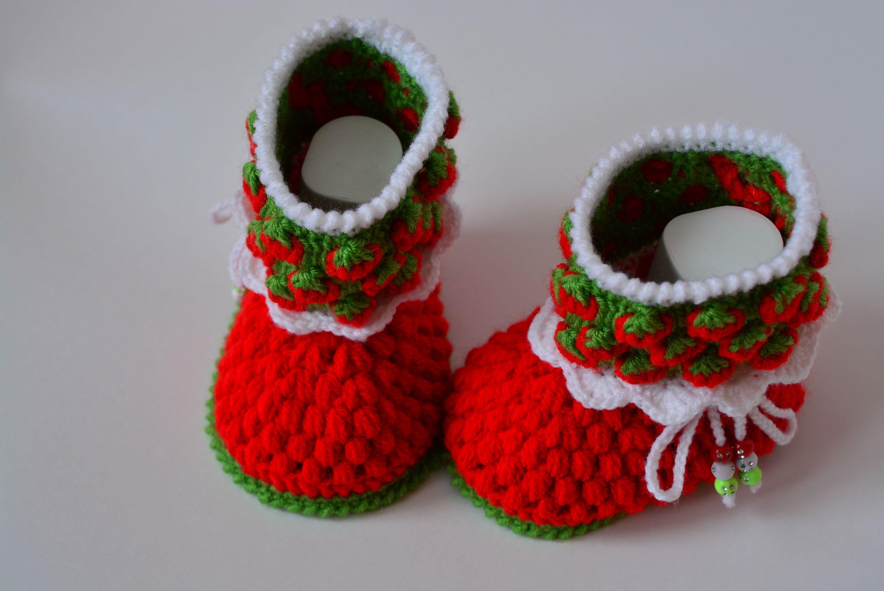 малышам крючком пинетки ботиночки