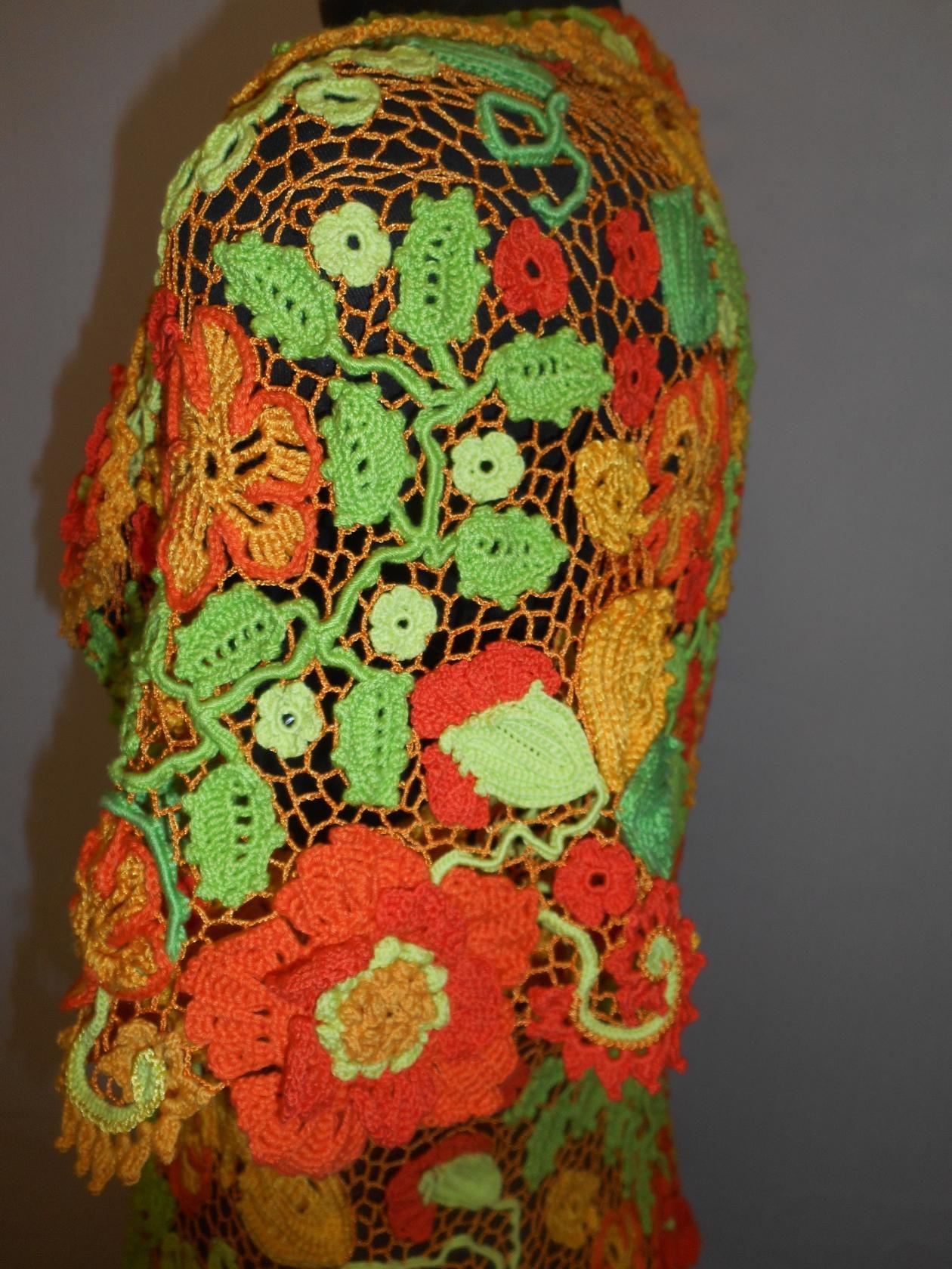 женскаякофта летняякофта кружевнаякофта крючком вязание крючок вязаныйжакет вязанаяодежда женскийжакет