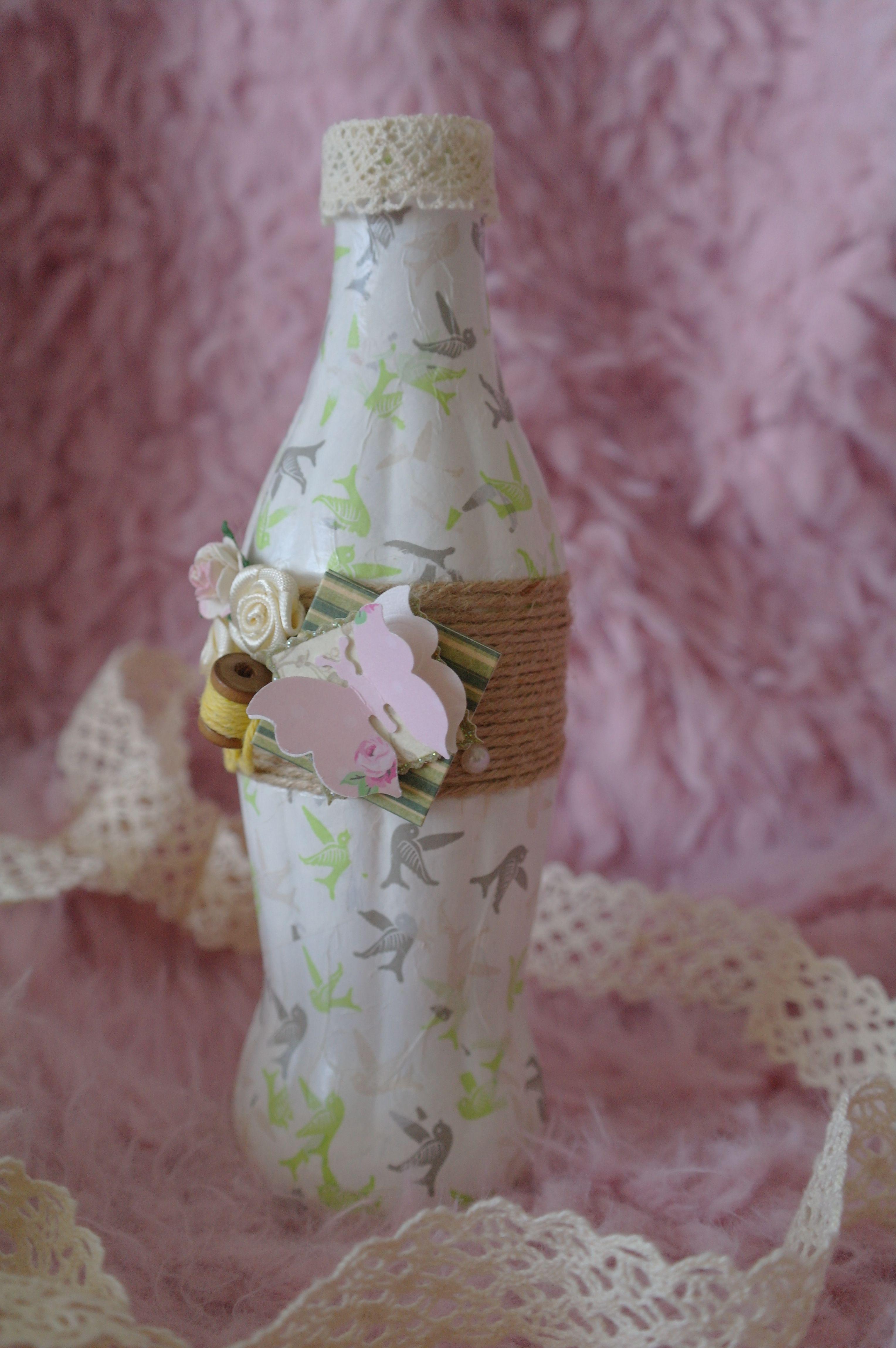 бутылка одного для ваза бабочки весна цветы стекло цветка