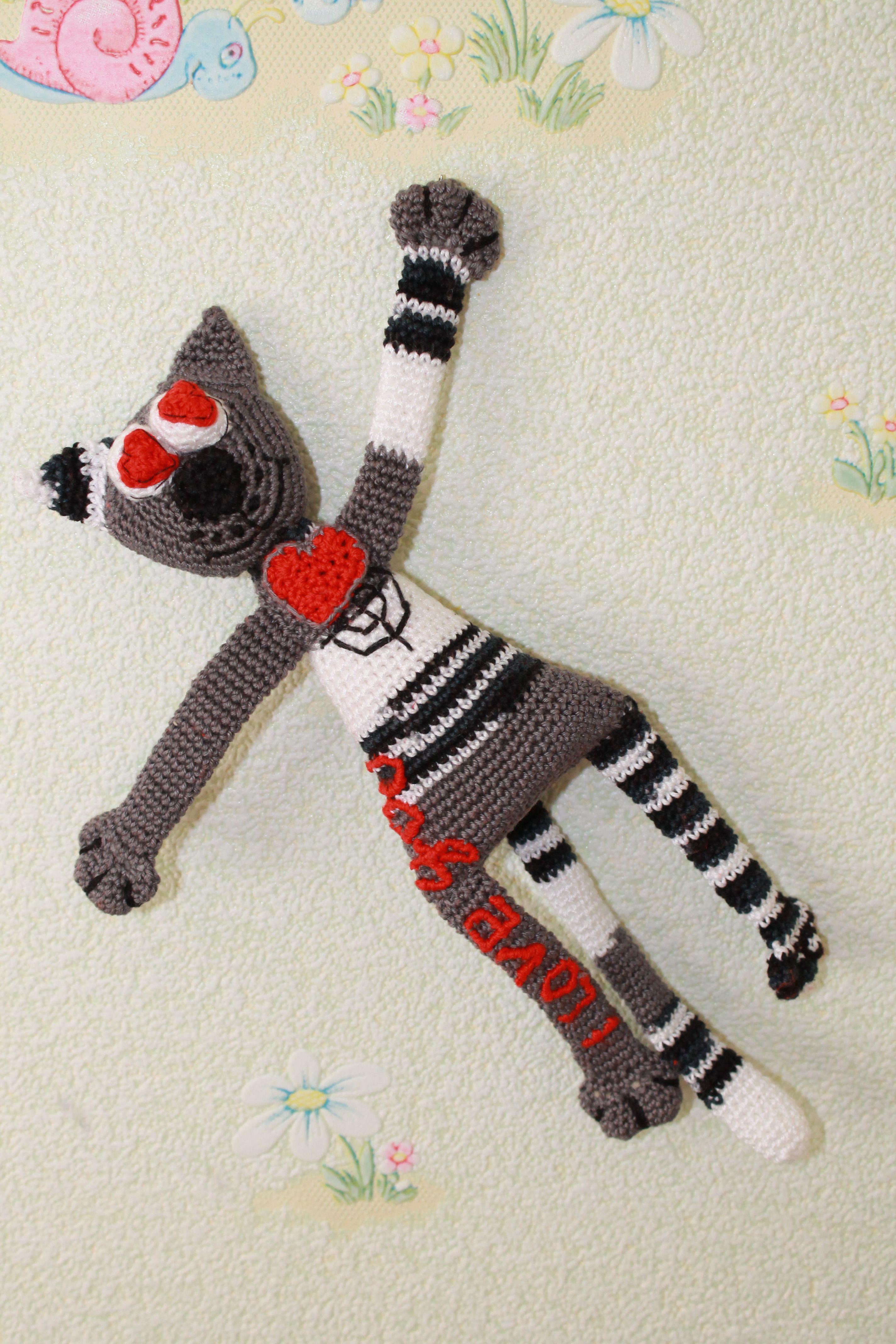котик вязаныйкот игрушкаручнойработы подаркикпраздникам развивающаяигрушка подаркиручнойработы вязанаяигрушка кот подарки котэ
