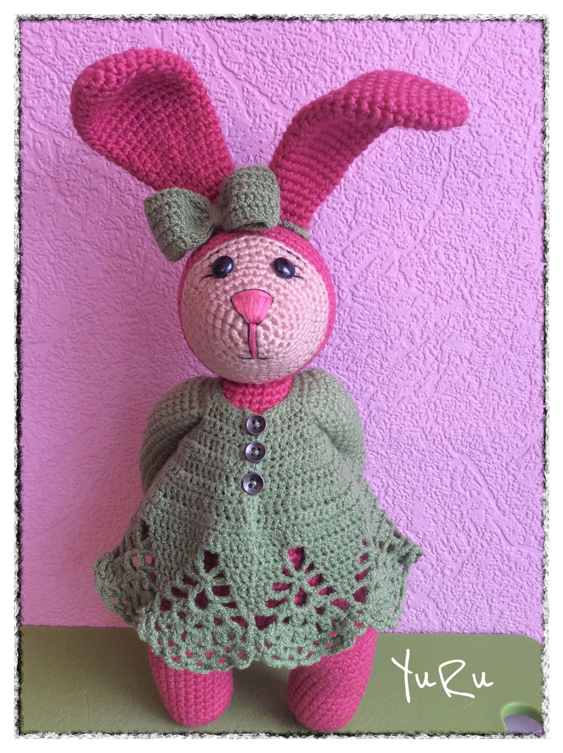 игрушка детям заяц зайка крючком подарок