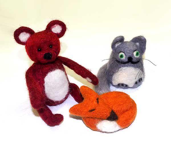 валяние игрушки сухое шерсть фелтинг