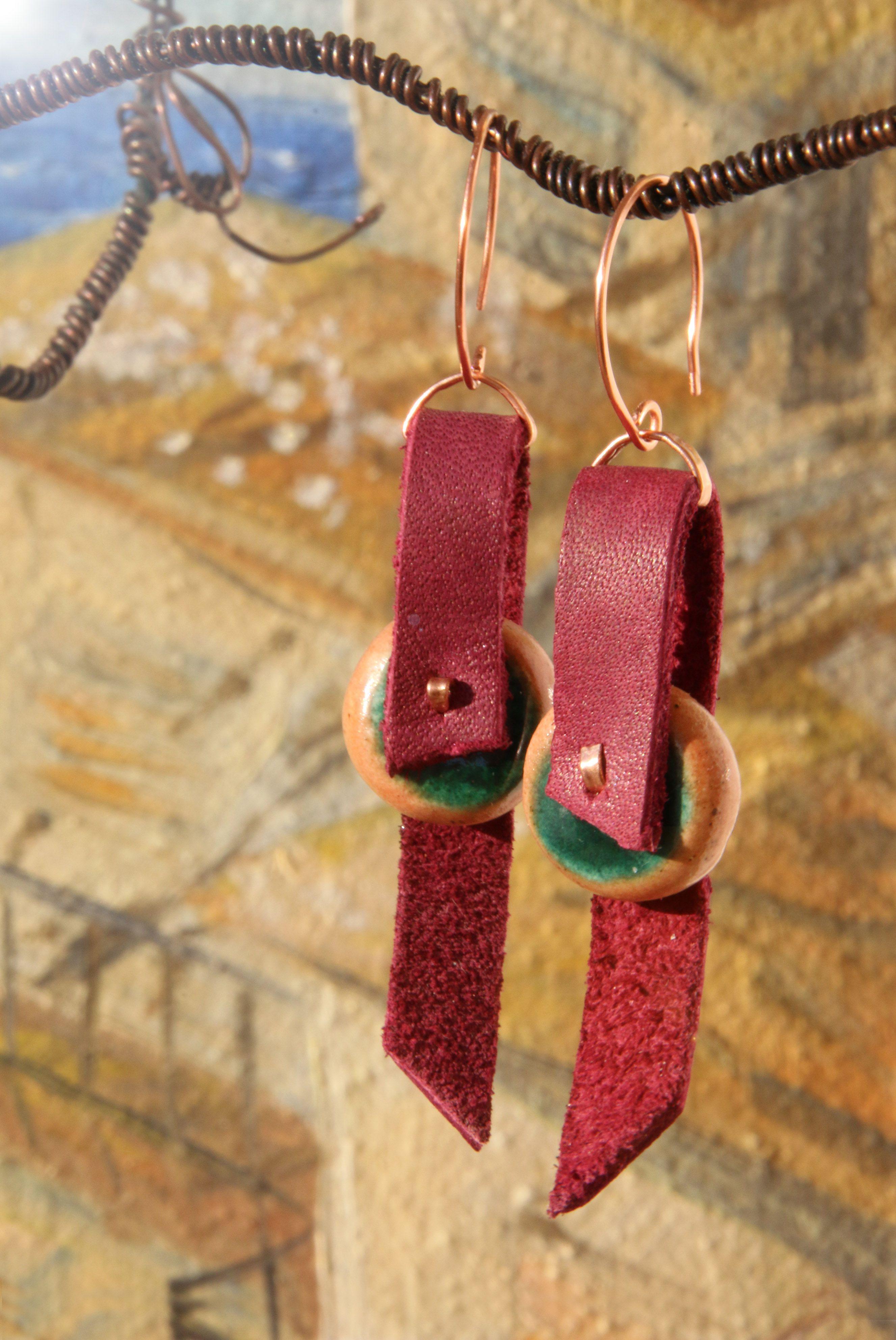 керамики сливовый серьги длинные летние фиолетовый кожи натуральные зеленый