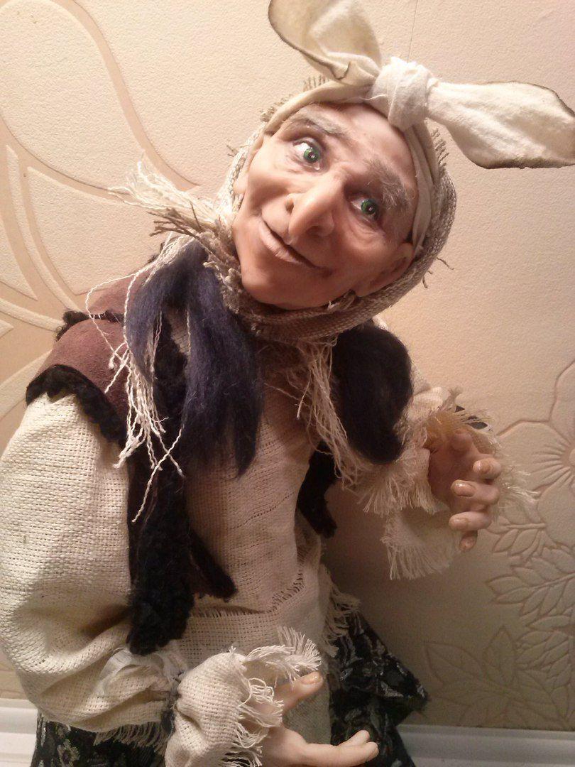 авторская бабаяга ксении орловой работа кукла куклы подарок