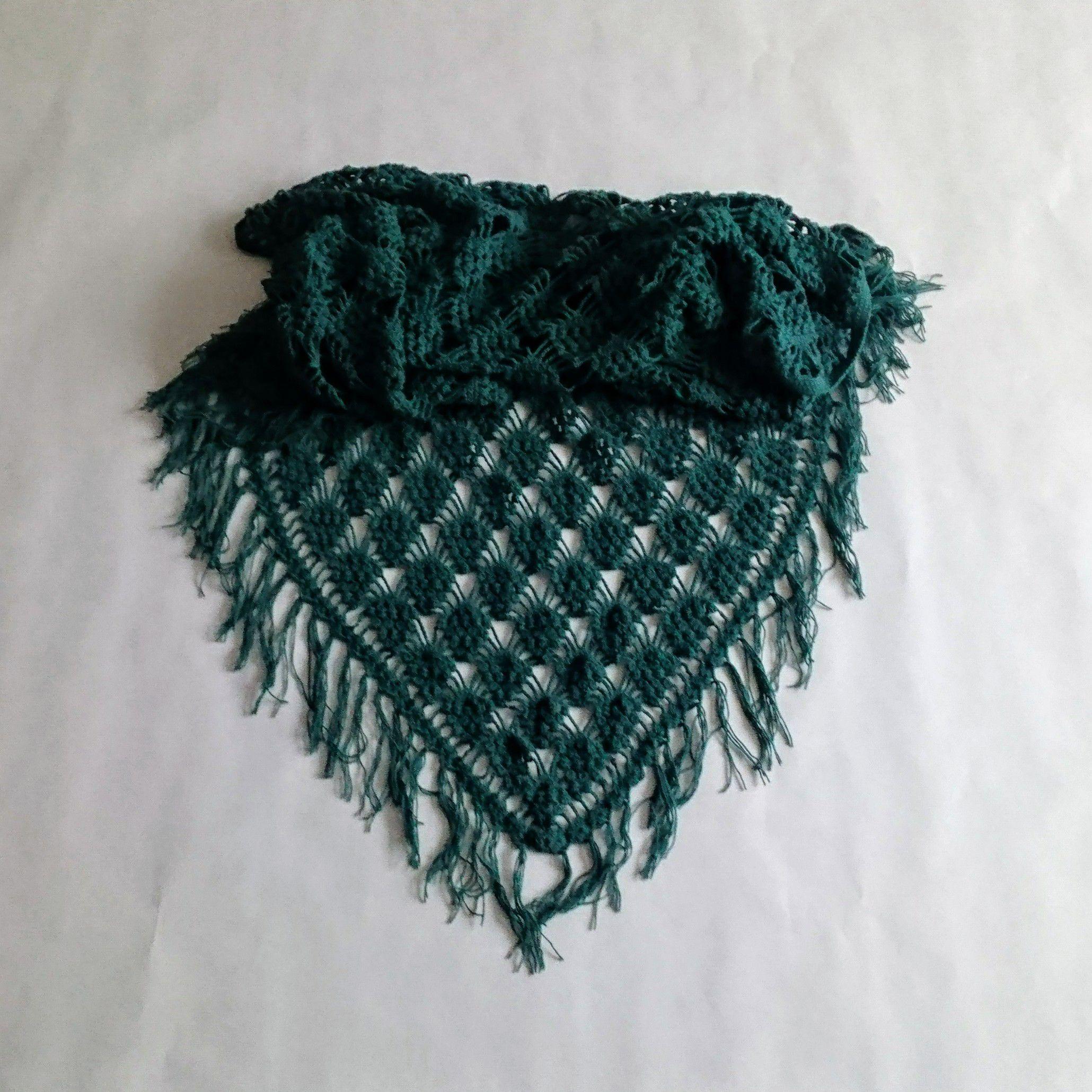 хлопок женская подарок купить малахит handmade шаль крючком