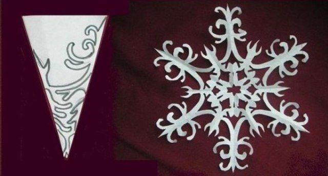 Снежинки из бумаги своими руками 7