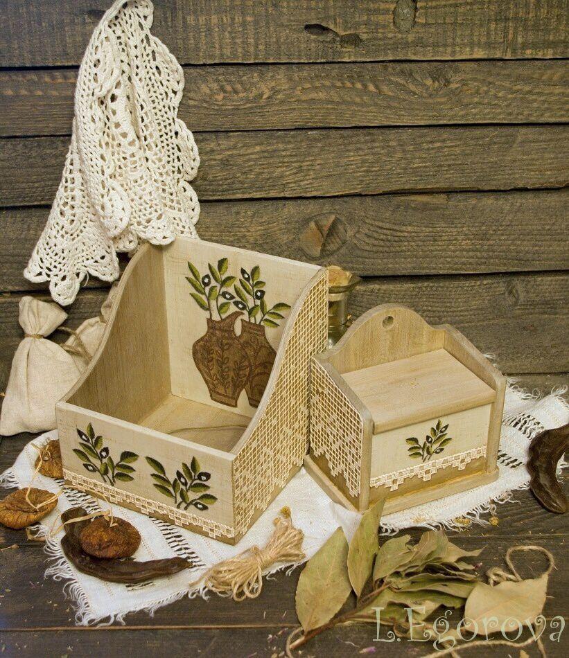 женщине подарок новоселье на кухня комплект декупаж салфетница маме имитации солонка