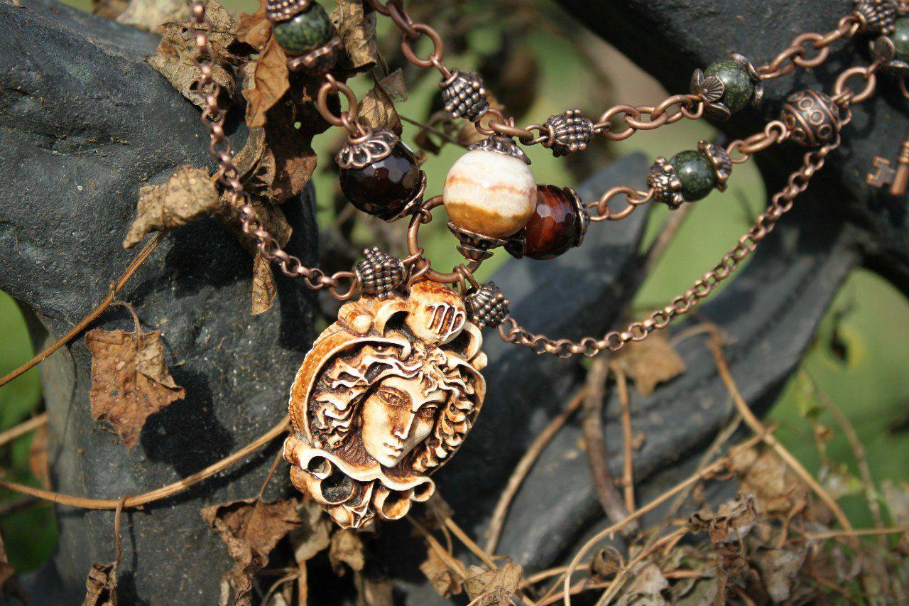 винтаж делаюукрашения камея handmade красота твойстиль дева дляженщин ручнаяработа подарок длядевушек ожерелье
