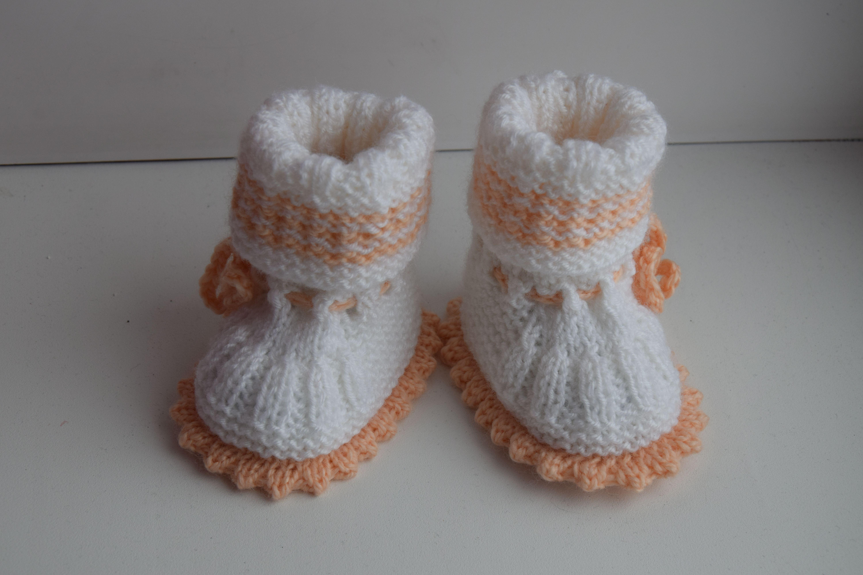 красота вязание детям пинетки дети
