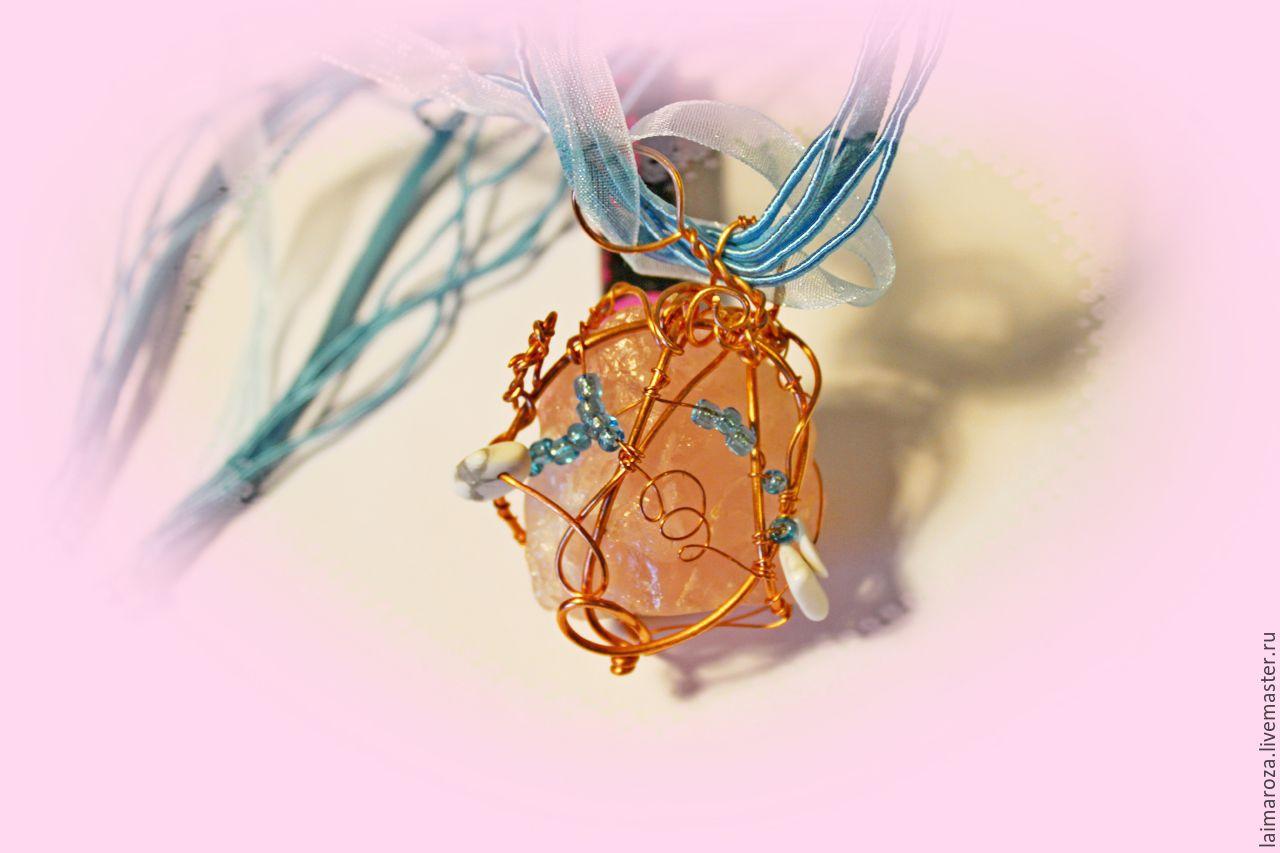 кварц бисер украшение кулон