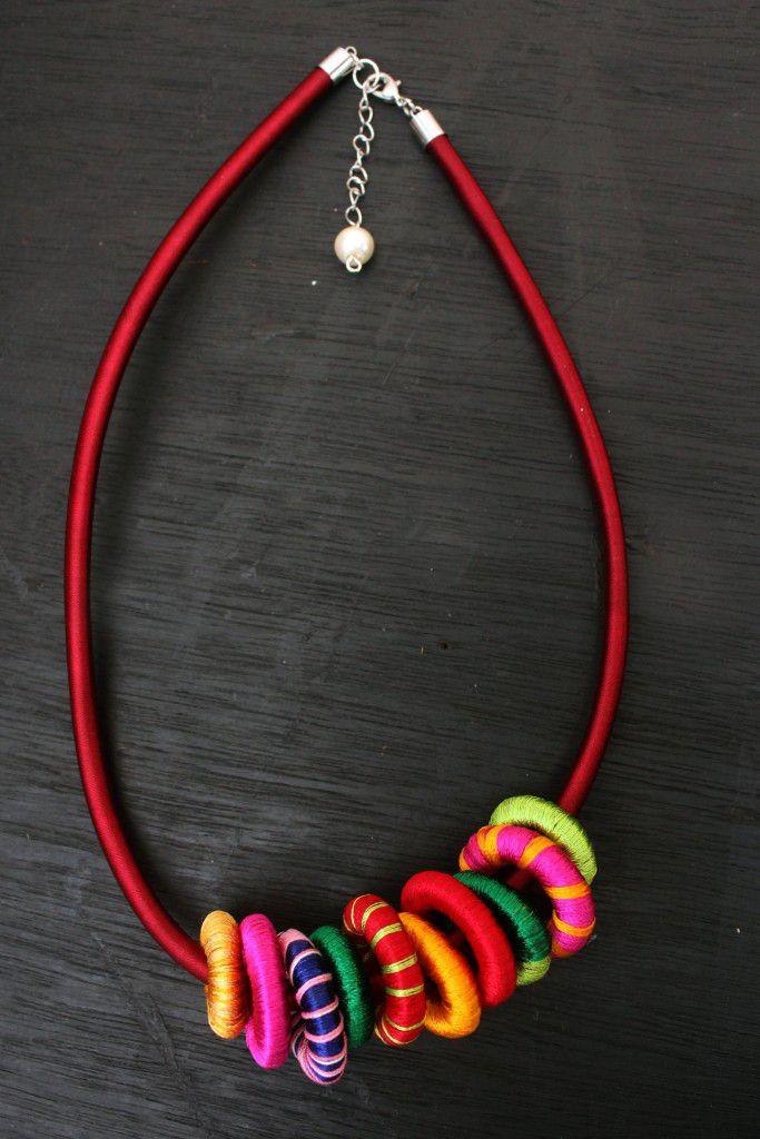 шелковое стильное крашение подарки ожерелье руками своими