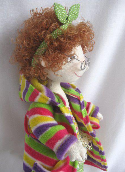 подарок кукла работа ручная толстушка милая уютная маме