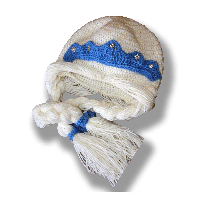 девочки теплая парик тиара связанное и новый шапка аксессуары ручная детские для детям шляпы шапки продажа купить шапочка костюм карнавальный косы работа крючком белая год стразы подарок