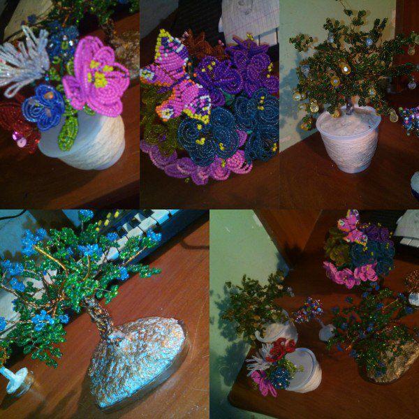 цеты бисера дерево бисер ручная из деревья работа цветы
