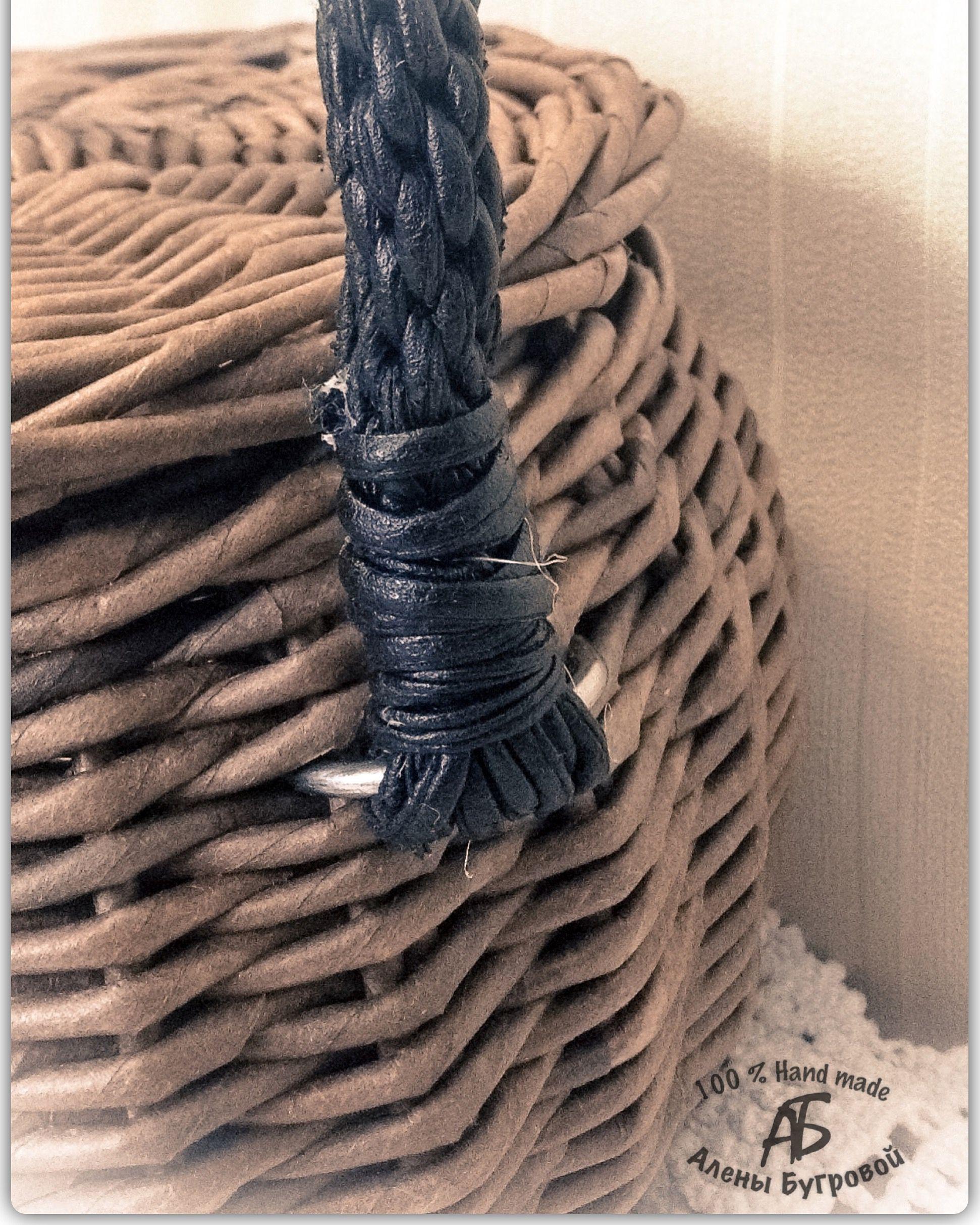 лоза бумажная плетение корзина