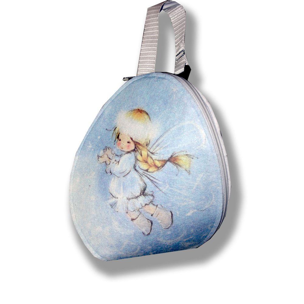 детский сумка фотопринт кеша сублимация милый нежный феи эксклюзивный фетр детям голубой мультик стильный ручной работы рюкзачок сумочка подарки синий подарок рисунок авторские