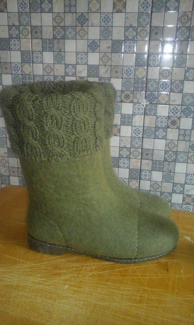 обувь валенки валянная эко