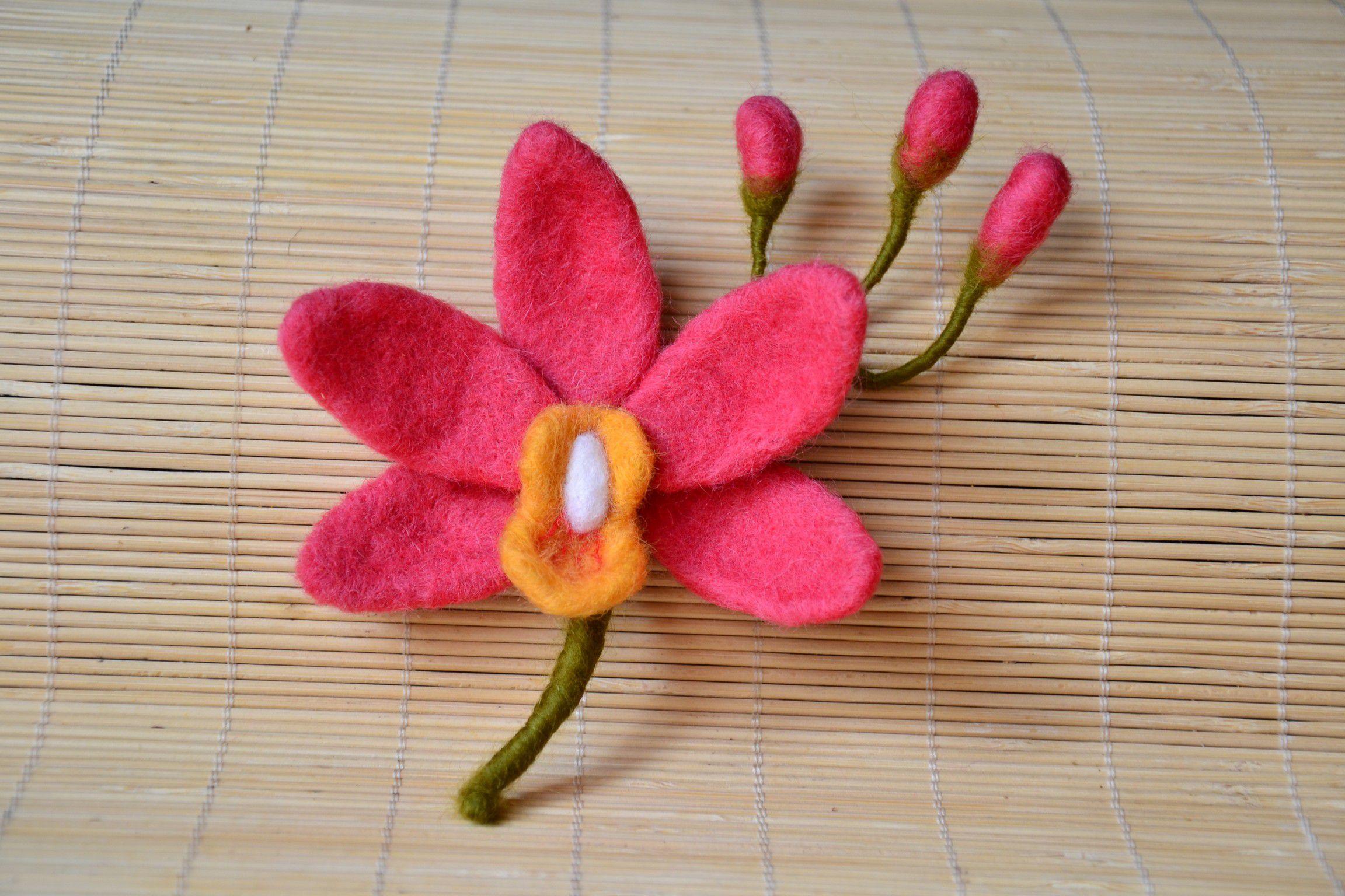 мокрое мастеркласс валяние шерсть цветок