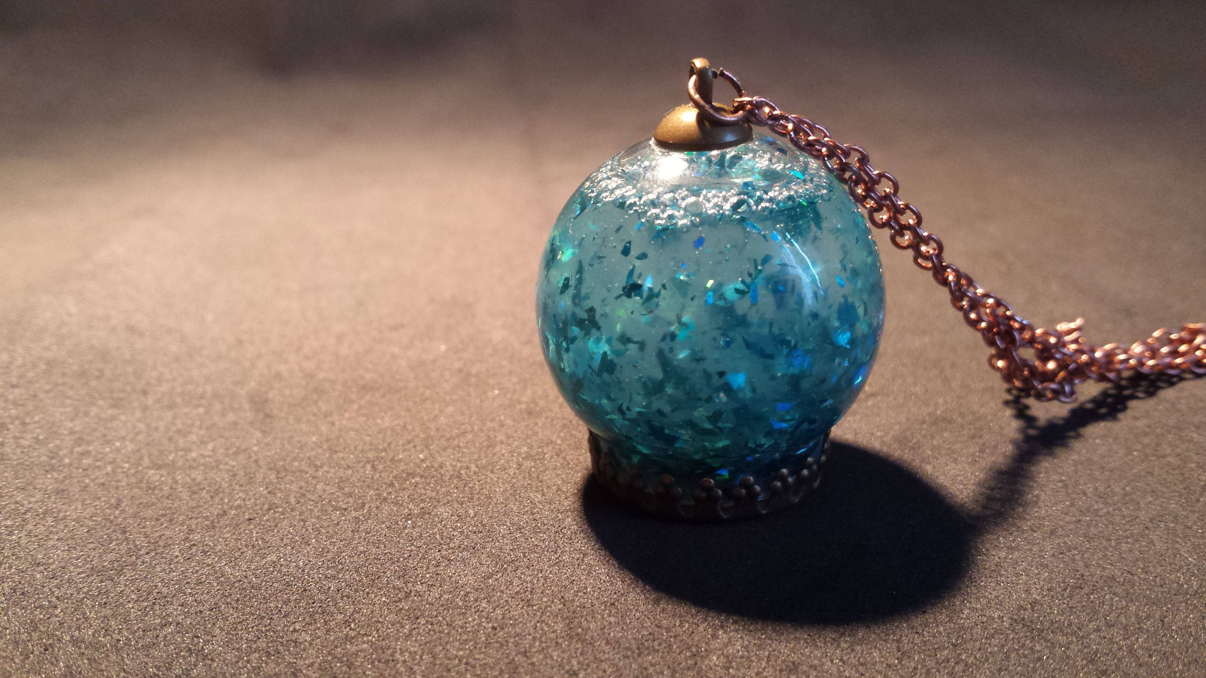 синийштиль handmade подвеска синий