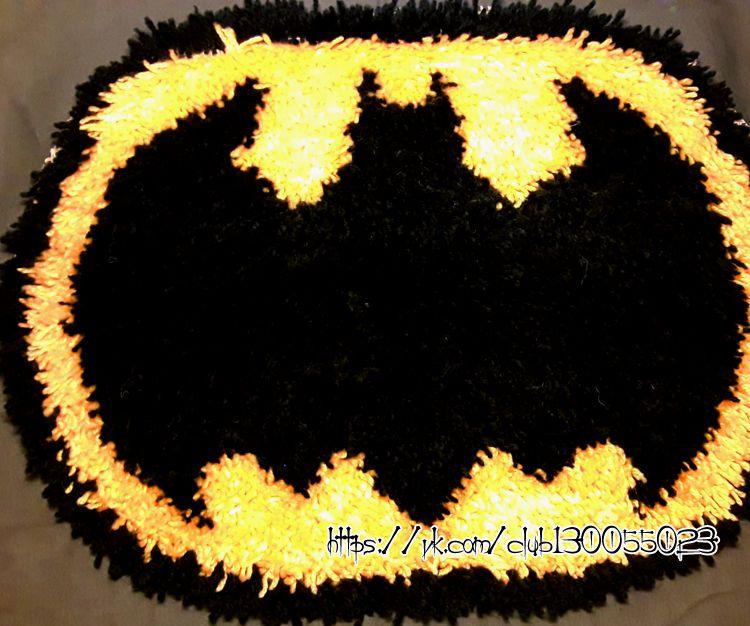 бэтмен коврикручнойработы мягкийковрик