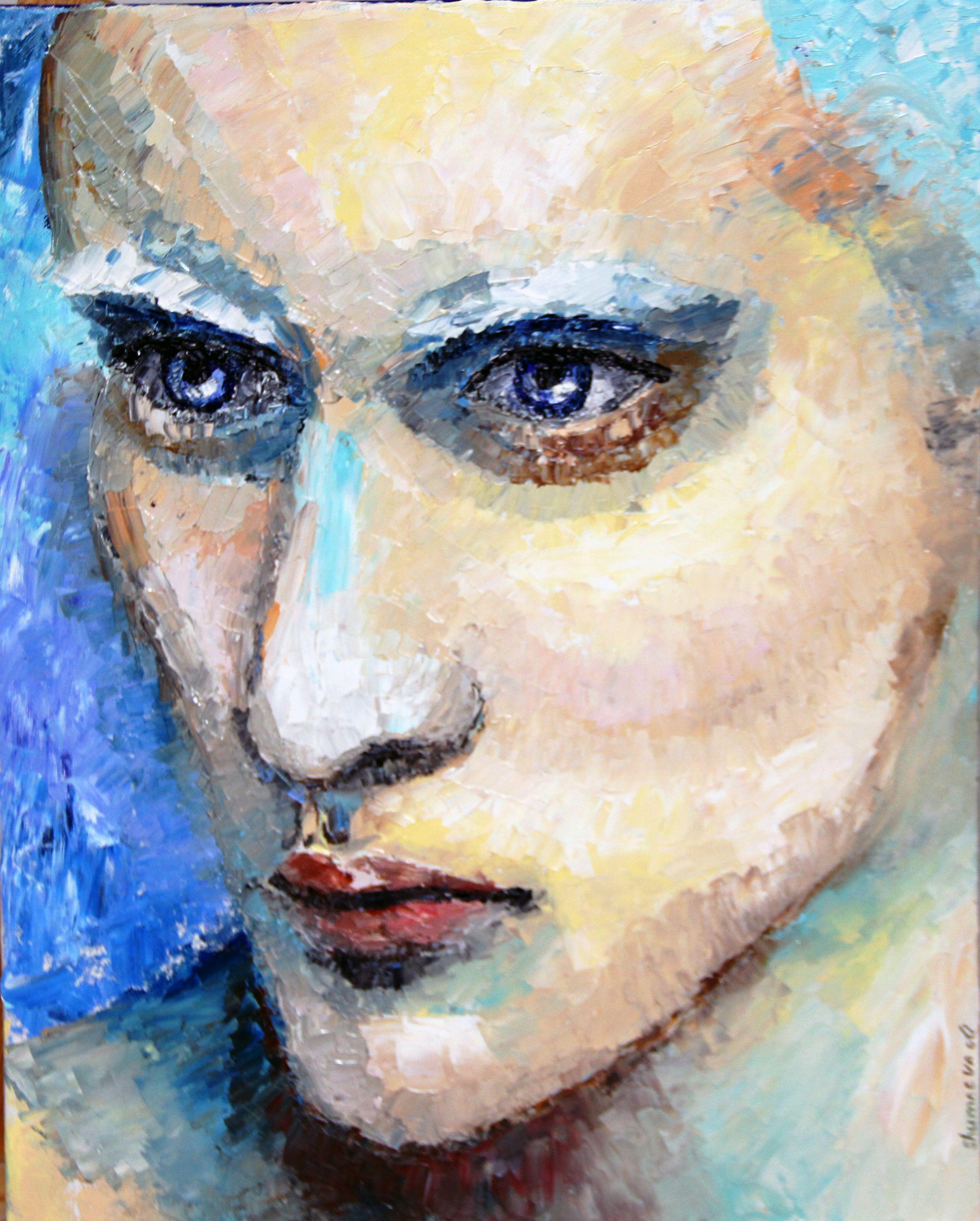 холст юноша мастихин абстракция масло живопись люди портрет