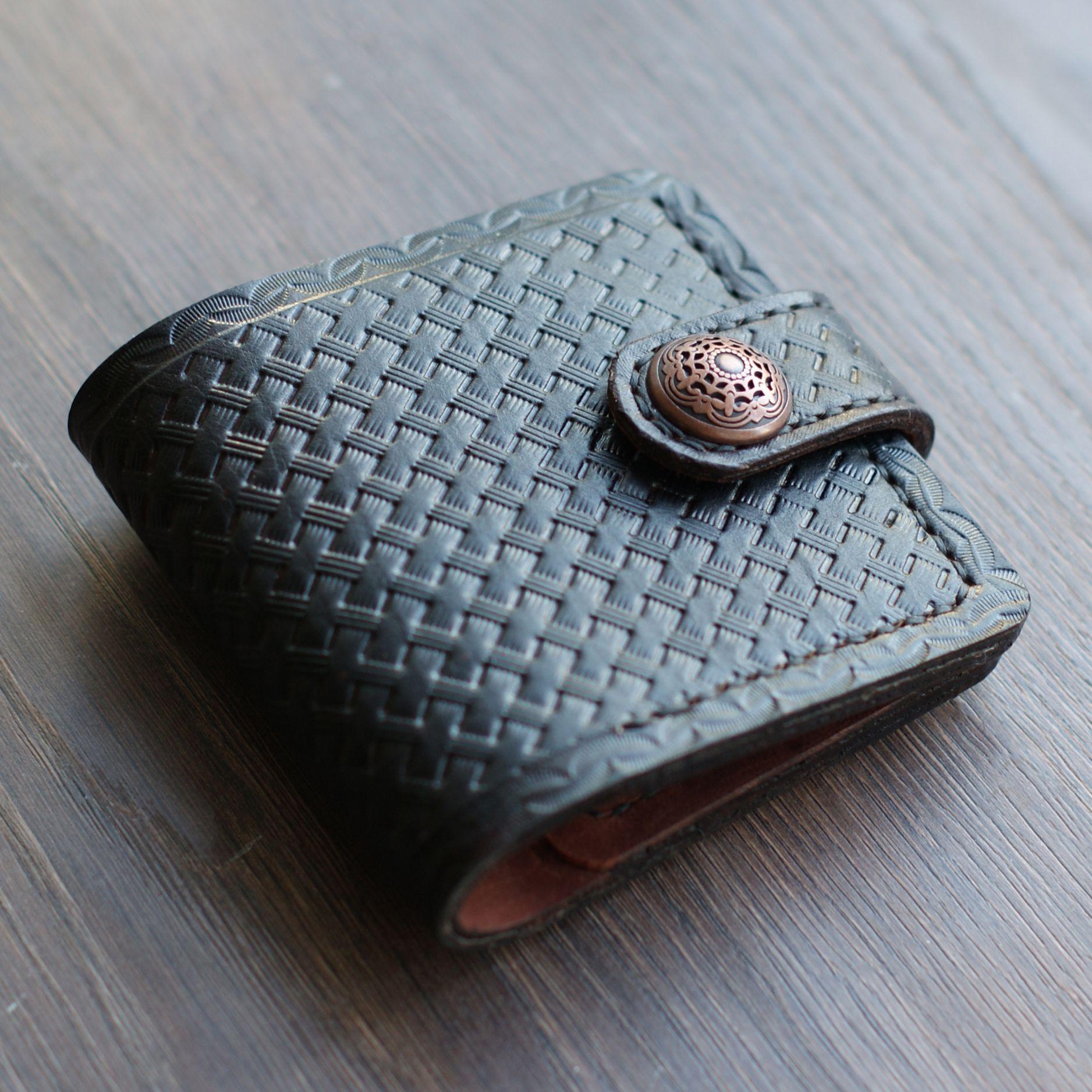 кожа мужчине портмоне подарок redcat тиснение leathercraft
