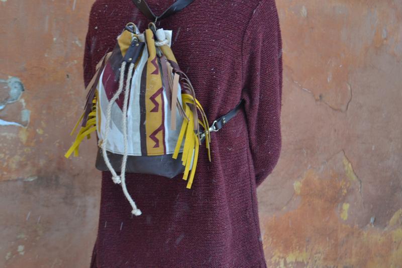 кожаный женская кожа подарок бохо рюкзак трасформер купитьрюкзак ручная текстиль женский купитьподарок авторская сумка бохостиль купить