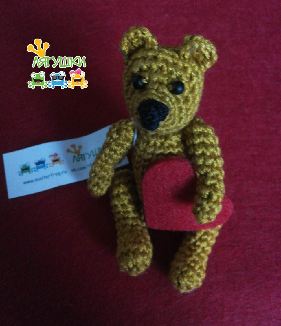 teddybear медведь мишка gift bear craft softtoy детям мягкаяигрушка handmade вязанаяигрушка тедди трилягушки медвежонок