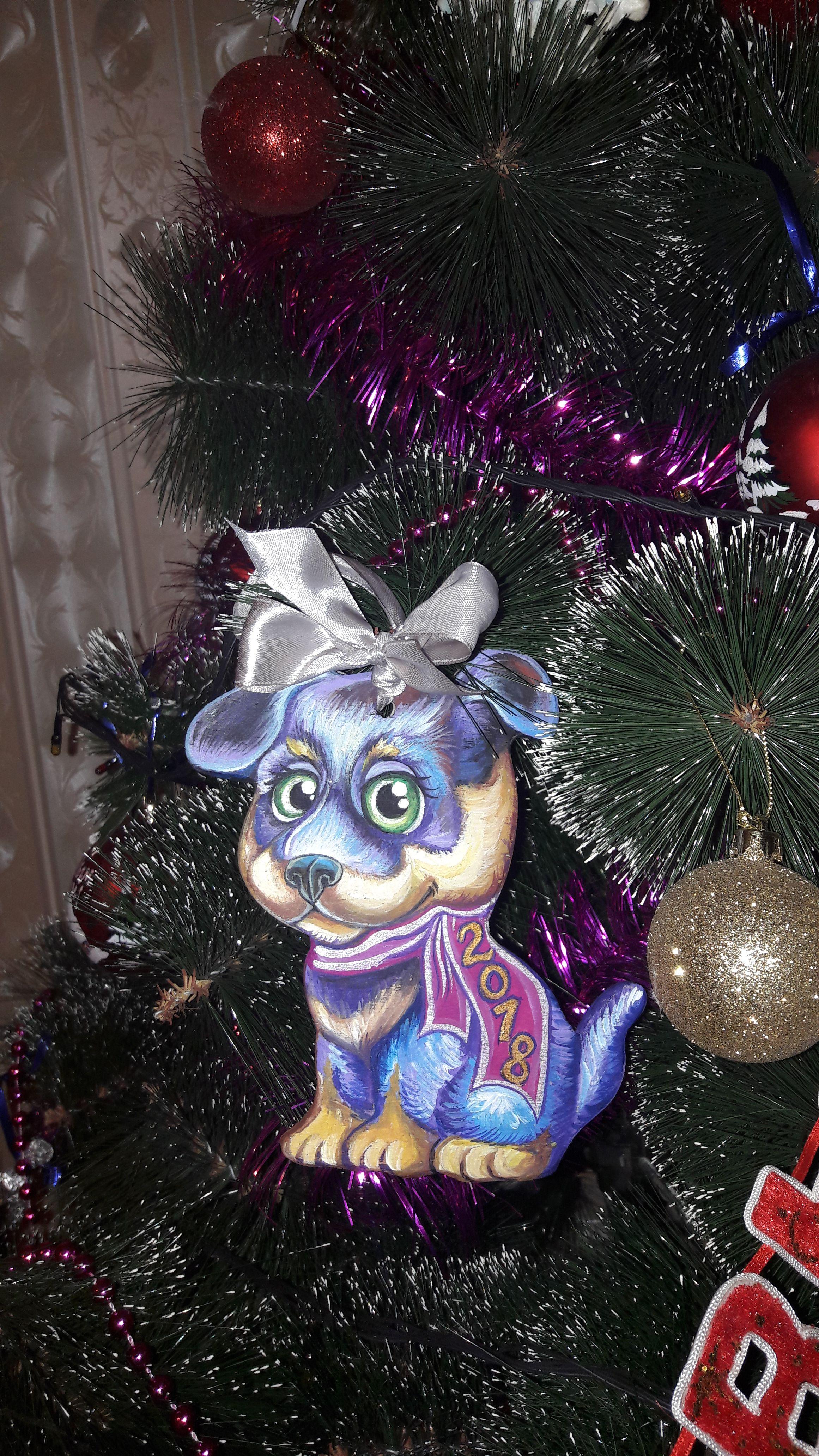 год новый собаки подарки творчество