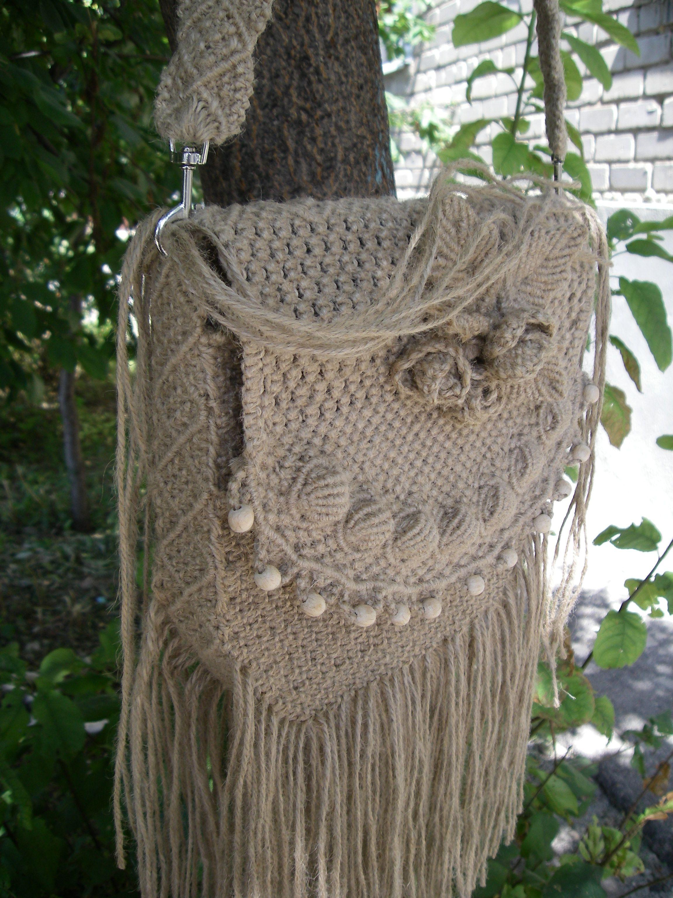 эко сумка плетеная бохо макраме