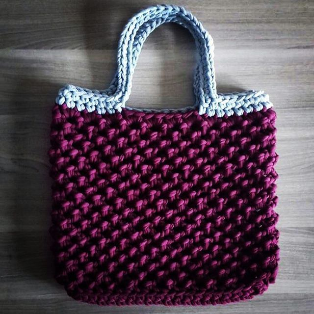 шоппер вязанаясумка сумка вязаниекрючком авоська