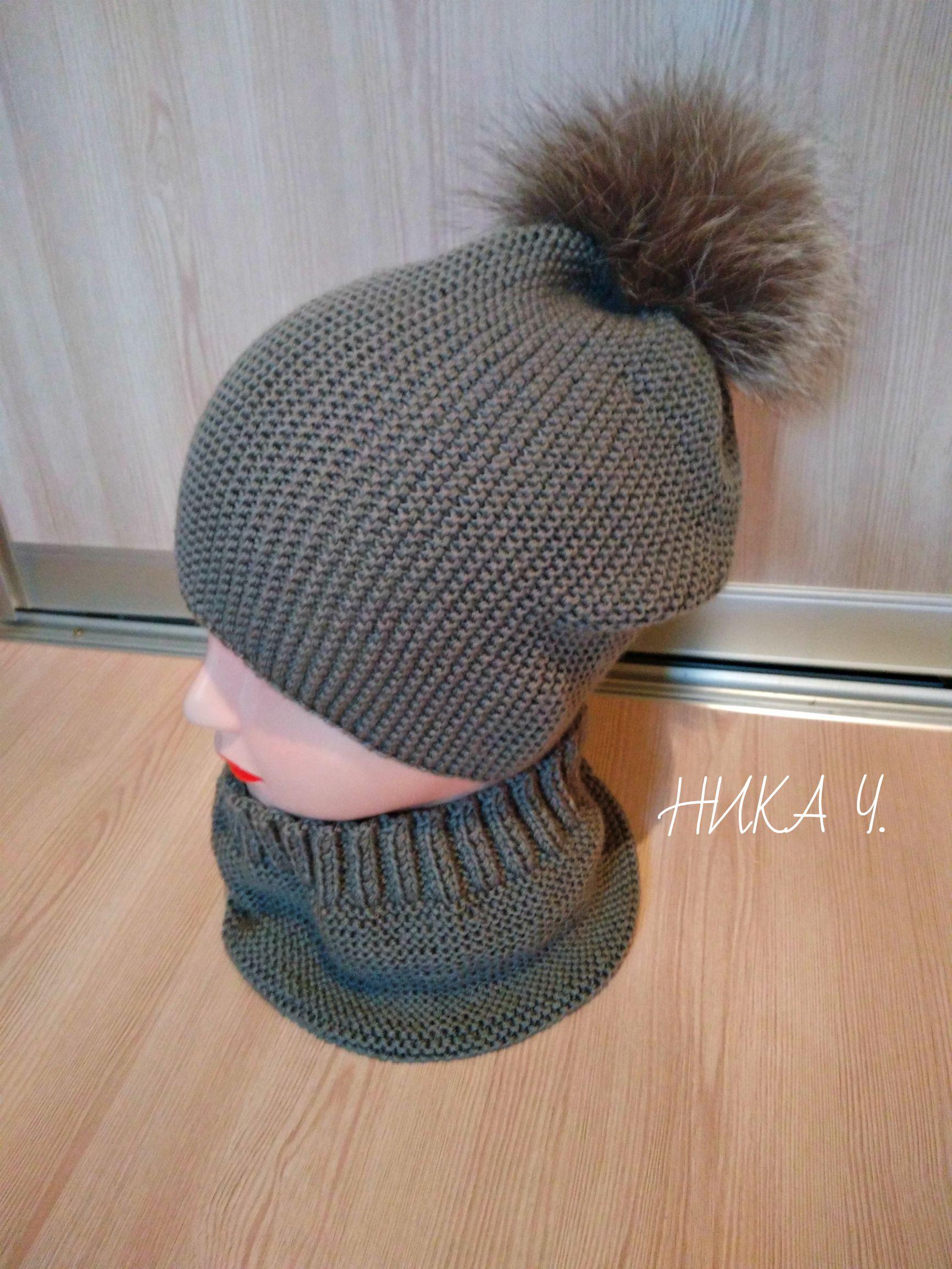 шапка заказ снуд handmad ручнаяработа