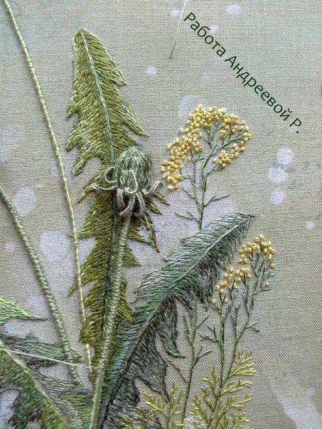 вышивка рукоделие мастеркласс цветы